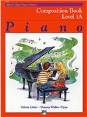 Alfred's Basic Piano Library Composition Book Level 1A
