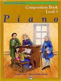 Alfred's Basic Piano Library: Composition Book Level 3