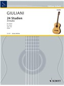 Mauro Giuliani: 24 Studien Op. 100. Guitar Sheet Music