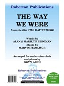 Marvin Hamlisch/Alan Bergman/Marilyn Bergman: The Way We Were - TTBB/Piano