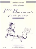 Gabriel Faure: Barcarolle No.1 In A Minor Op.26