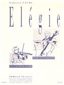Elégie pour violoncelle ou violon et piano