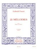 Gabriel Fauré : 20 mélodies pour piano et chant vol 2 mezzo