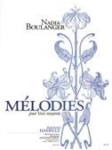 Boulanger N: Mélodies recueil pour voix moyenne