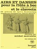 Airs Et Danses (Soprano Or Alto Recorder/Harpsichord) (Sanvoisin)