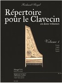 Siegel: Répertoire pour le clavecin (en 2 volumes) volume 1 (5e/6e) (texte franéais, anglais, allemand, espagnol) (pour cl.... Harpsichord Sheet Music