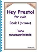 Hey Presto! For Viola Book 1 (Bronze) Piano Accompaniments