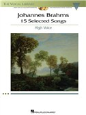 Johannes Brahms: 15 Selected Songs - High Voice (Book & CD)