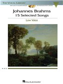 Johannes Brahms: 15 Selected Songs - Low Voice (Book & CD)