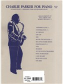 Charlie Parker For Piano - Book 1