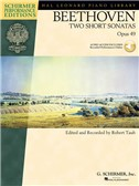 Beethoven: Two Short Sonatas Op.49 (Book/CD). Piano Sheet Music, CD