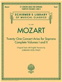 W.A. Mozart: 21 Concert Arias For Soprano - Complete Volumes 1 And 2. Sheet Music