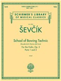 Otakar Sevcik: School Of Bowing Technic Op.2 - Parts 1 And 2. Violin Sheet Music