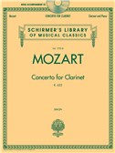 W.A. Mozart: Concerto For Clarinet K.622 - Clarinet/Piano (Book/CD)