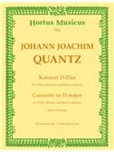 J. J. Quantz: Concerto For Flute In D Major - Pour Potsdam (Flute And Piano). Sheet Music