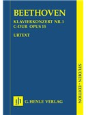 Beethoven: Piano Concerto No.1 In C Op.15 - Study Score (Henle Urtext Edition)
