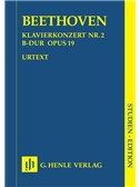 Beethoven: Piano Concert No.2 In B Flat Op.19 (Henle Urtext Edition) - Study Score