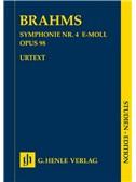 Johannes Brahms: Symphony No.4 In E Minor Op.98 (Study Score)