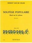 Ernest Van De Velde: Solfège Populaire - Clé De Fa