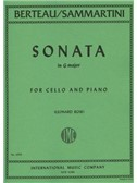 Martin Berteau/ Giovanni Sammartini: Sonata In G For Cello And Piano