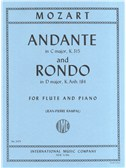 W.A. Mozart: Andante In C K 315/Rondo In D K Anh184. Flute Sheet Music