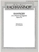 Sergei Rachmaninov: Rhapsody On A Theme By Paganini Op.43 (Two Piano Score)
