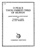 Arne, T: O Peace Thou Fairest Child Of Heaven Voice/Piano