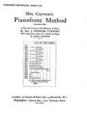 Mrs Curwen's Pianoforte Method Unbarred Sentences Steps I-VI