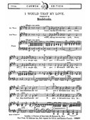 Mendelssohn: I Would That My Love (2pt)