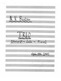 Niels Viggo Bentzon: Trio Op.134 (Score/Parts)