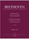 Beethoven: Piano Concerto In D Based On The Violin Concerto Op.61 (Full Score)