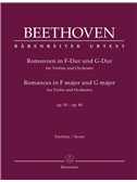 Ludwig Van Beethoven: Romances In F And G For Violin And Orchestra Op.50, 40 (Score). Sheet Music