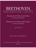 Ludwig Van Beethoven: Romances In F And G For Violin And Orchestra Op.50, 40 (Piano Reduction). Sheet Music
