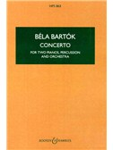 Bela Bartok: Concerto For Two Pianos, Percussion And Orchestra (Study Score)