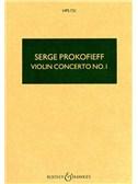 Sergei Prokofiev: Violin Concerto No.1 In D Op.19 (Study Score)