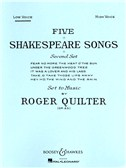 Roger Quilter: Five Shakespeare Songs (Low Voice)