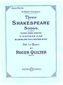 Roger Quilter: Three Shakespeare Songs For High Voice