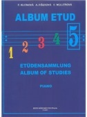 Album Of Studies V For Piano