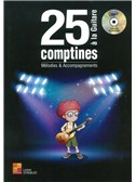 Lorene Stremler: 25 Comptines A La Guitare - Melodies and Accompagnements (Book/CD)