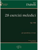 Anton Diabelli: 28 Esercizi Melodici, Op.149, per Pianoforte a 4 Mani. Piano Duet Sheet Music