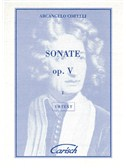 Arcangelo Corelli: Sonate Op.V, Volume I, for Violin and Continuo. Sheet Music