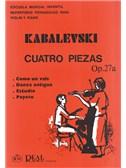 Kabalevsky: 4 Piezas para Viol�n y Piano, Op.27a. Sheet Music