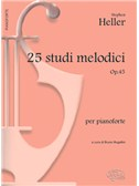 Stephen Heller: 25 Studi Melodici Op.45, per Pianoforte. Sheet Music