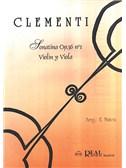 Muzio Clementi: Sonatina Op.36 No.1, para Viol�n y Viola. Sheet Music