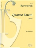 Luigi Boccherini: 4 Duetti Op.10, per 2 Violoncelli. Cello Sheet Music