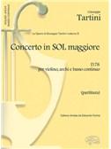 Giuseppe Tartini: Volume 05: Concerto in Sol Maggiore D78 per Violino, Archi e Basso Continuo  (Partitura)