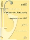 Giuseppe Tartini: Volume 15: Concerto in La Minore D 115 per Violino, Archi e Basso Continuo (Partitura)