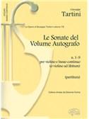 Giuseppe Tartini: Volume 19: Sonate del Volume Autografo, N.1-9 per Violino e Basso Continuo (o Violino ad Libitum). Sheet Music