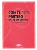 Andrea Bocelli: Con Te Partir� (Time To Say Goodbye). Piano & Vocal Sheet Music