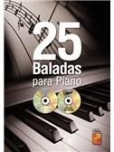 25 Baladas Para Piano (Libro/CD/DVD)